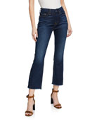 Jen7 by 7 for All Mankind Cropped High-Rise