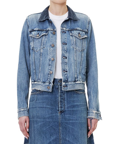 Nica Slim Denim Trucker Jacket