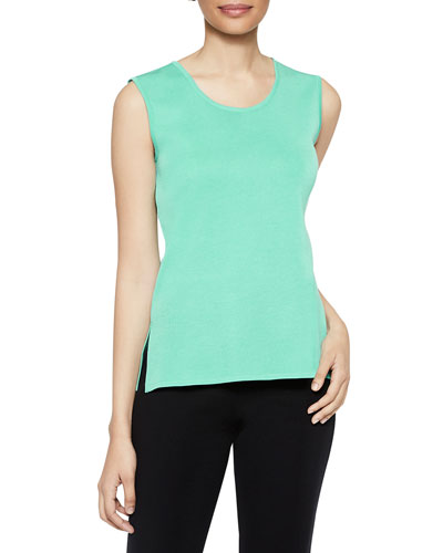 Laguna Green Scoop-Neck Knit Tank