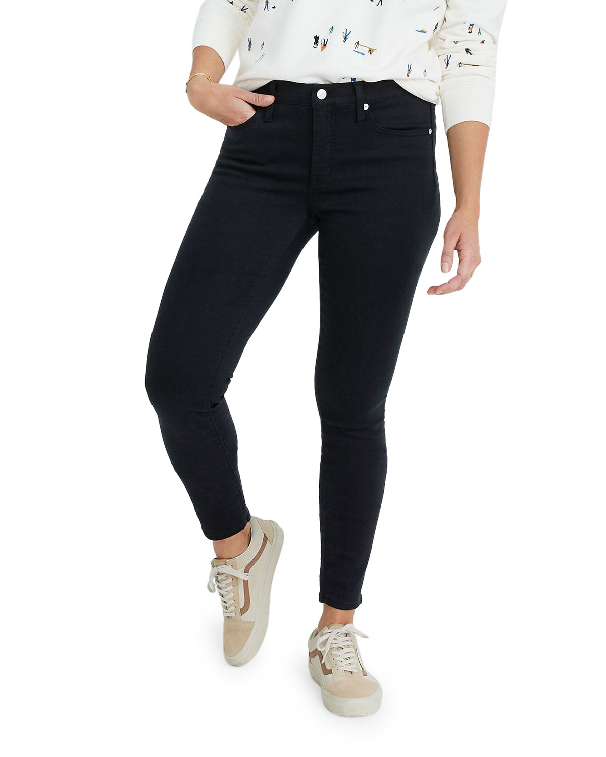 """9"""" Mid-Rise Skinny Jeans"""