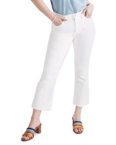 Cali Boot-Cut Jeans with Raw Hem