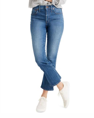 Cali High-Rise Crop Boot-Cut Jeans - Inclusive Sizing