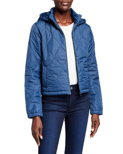 Quilted Hooded Zip-Up Jacket