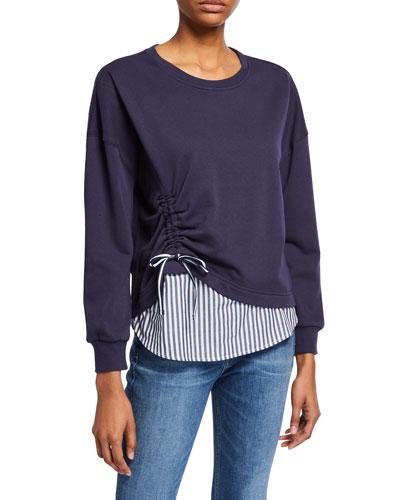 Darce Ruched Combo Sweatshirt