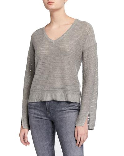 Hermosa Heathered V-Neck Pullover