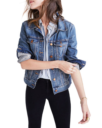 Classic Denim Trucker Jacket - Inclusive Sizing