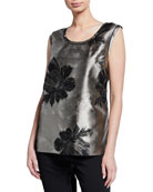 Caroline Rose Fall Flower Jacquard Longer Tank