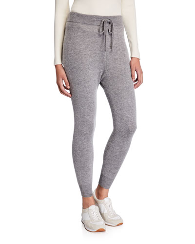 Wool/Cashmere Pull-On Drawstring Jogger Pants