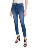 ALICE + OLIVIA JEANS Good High-Rise Asymmetrical Skinny