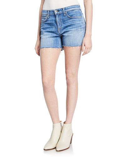Dre Low-Rise Denim Cutoff Shorts
