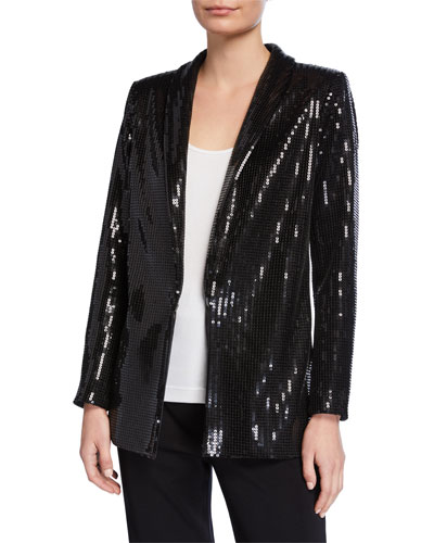 Plus Size Sequined Jacket