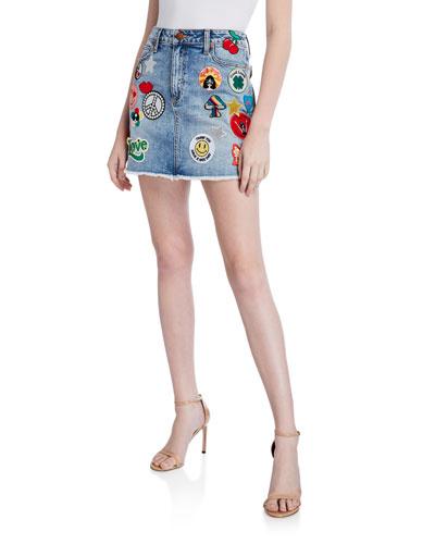 Good High-Waist Patched Skirt