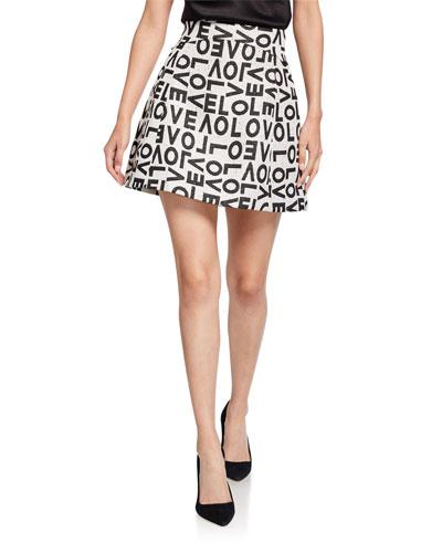 Tilda Curved-Waistband Lantern Skirt