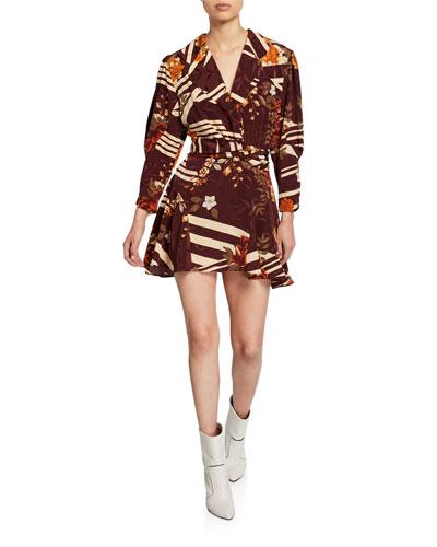 Laura Floral Silk Mini Dress