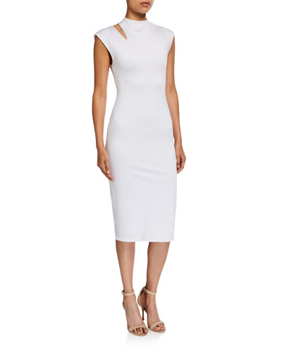 Delora Mock-Neck Cutout Dress