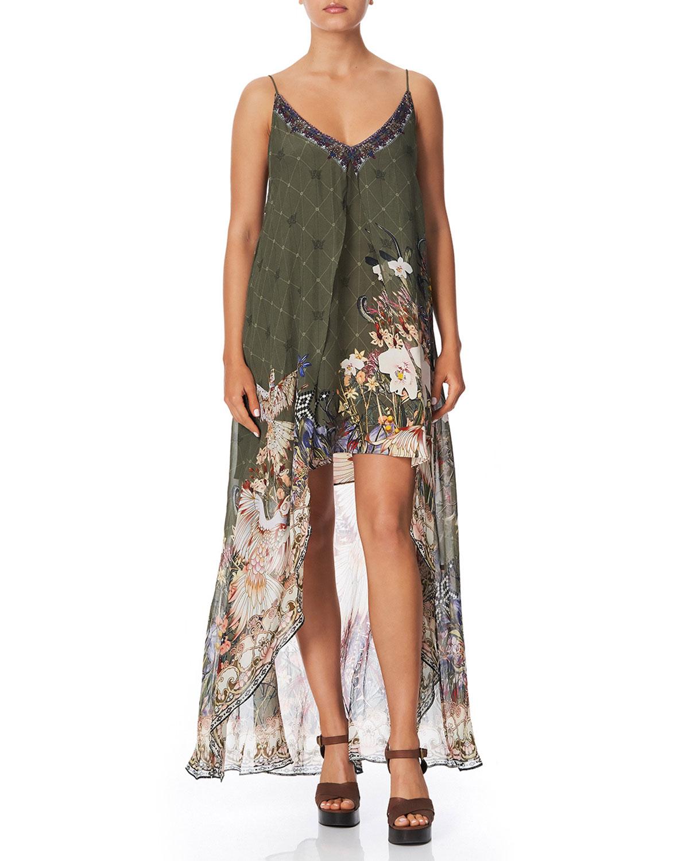 Camilla Dresses FLARED MINI DRESS WITH SHEER OVERLAY