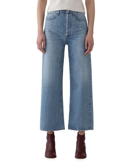 AGOLDE Ren High-Rise Wide-Leg Jeans