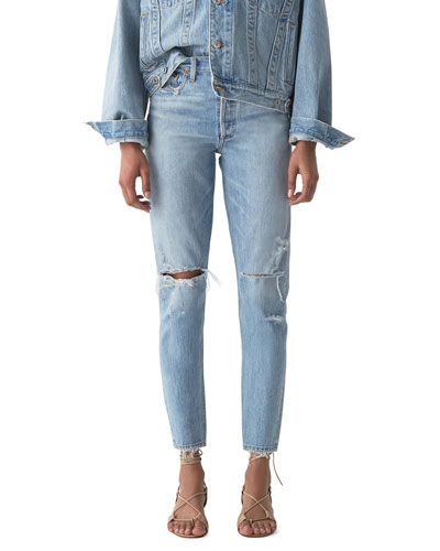 Jaime High-Rise Classic Jeans with Rip