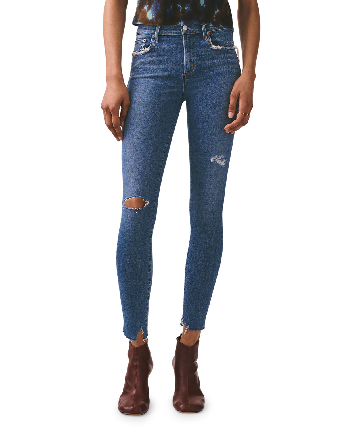 Agolde Jeans SOPHIE HIGH-RISE ANKLE SKINNY JEANS