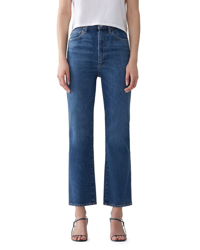 Pinch Waist High-Rise Kick Jeans