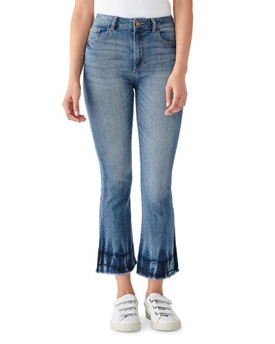 Bridget Cropped Mid-Rise Boot-Cut Jeans
