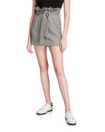 Zoya Belted Paperbag Mini Skirt