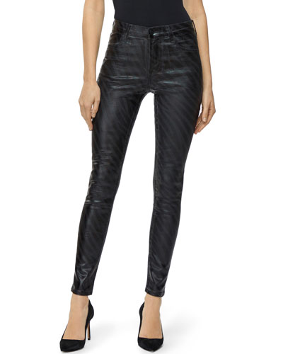 Maria High-Rise Coated Skinny Jeans