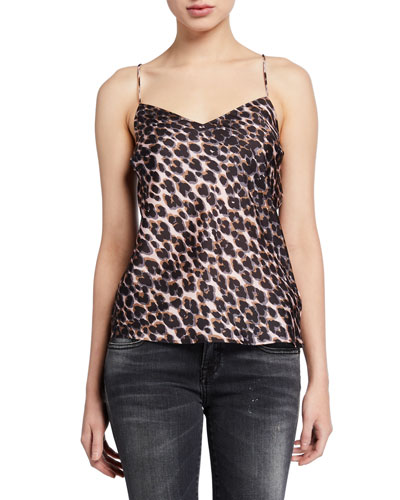 Cicely Leopard-Print Cami