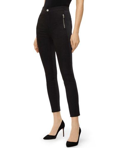 Alana High-Rise Skinny Scuba Pants