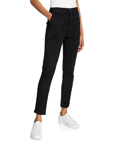 Andira Patch-Pocket Ankle Pants