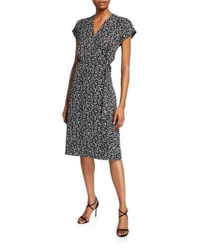 Bethwyn Ditsy Floral Wrap Dress