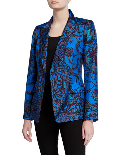 Petra Printed Silk Jacket