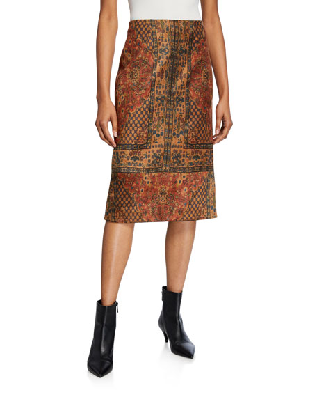 Kobi Halperin Devon Printed Straight Skirt