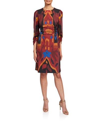 Jasmine Printed Sheath Dress