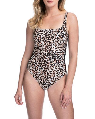 Wild Things Scoop-Neck One-Piece Swimsuit