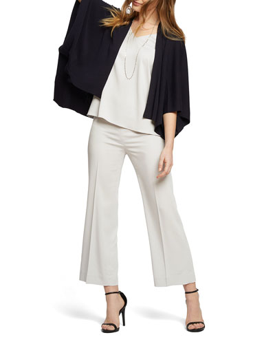 Sleek Lines Wide-Leg Crop Pants