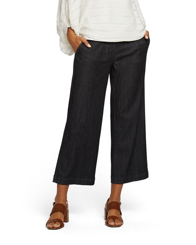 Petite Summer Day Denim Crop Pants
