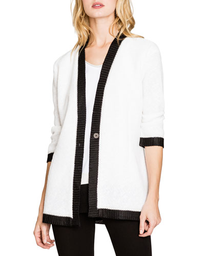 Day Glow One-Button Cardigan