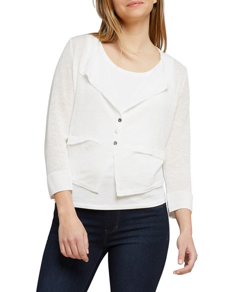 NIC+ZOE New Day Button-Front Cardigan