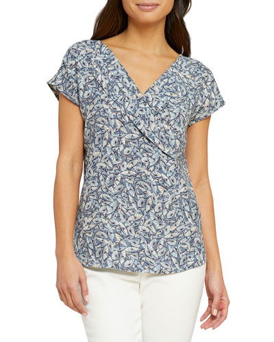 April Showers Reversible Cap-Sleeve Top