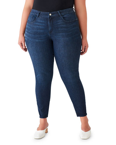 Florence Mid-Rise Ankle Skinny Jeans - Inclusive Sizing