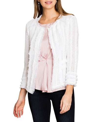 Plus Size Playful Fringe Jacket