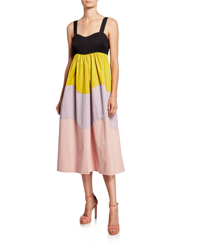 bd0322d0b8ad Quick Look. kate spade new york · scallop blocked sleeveless midi dress
