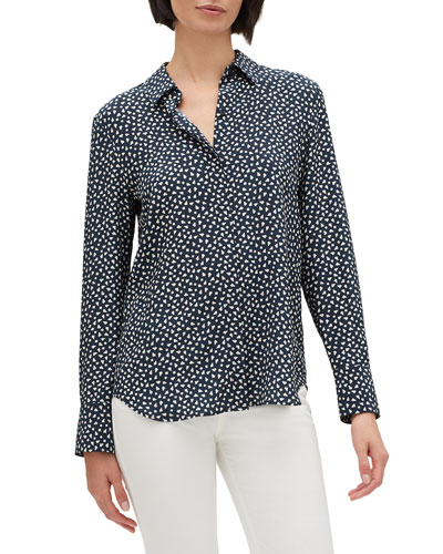 9d0d4df6efcbf8 Long Sleeves Silk Print Blouse | Neiman Marcus