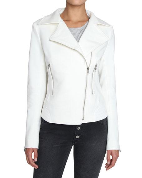 James Jeans Zip-Front Moto Jacket