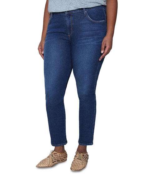 James Jeans Plus Size Pencil Twiggy Ankle Cigarette Jeans