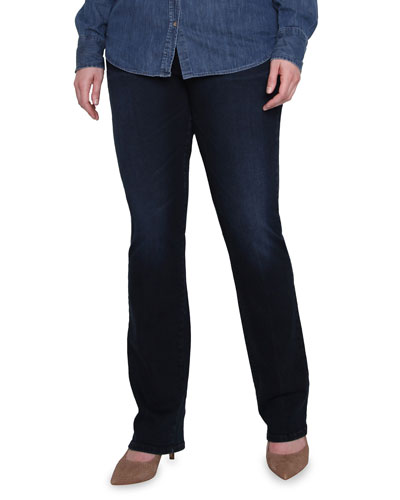 Plus Size Straight Hunter High-Rise Jeans