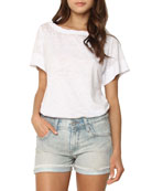 James Jeans Shorty Cuffed Denim Shorts