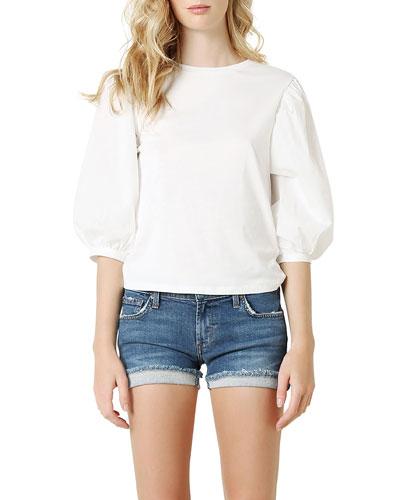 Shorty Cuffed Denim Shorts