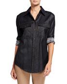Lafayette 148 New York Briar Mercantile Cloth Long-Sleeve